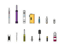 Vaping colored icon set Stock Images