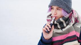 Vaping girl Stock Photography