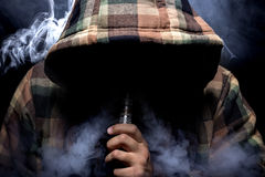 Vaping Health Risk Royalty Free Stock Images