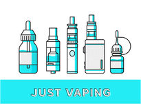 Vaping icons collection Royalty Free Stock Photos
