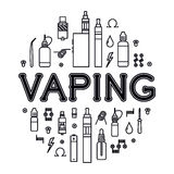 Vaping icons set Royalty Free Stock Photo