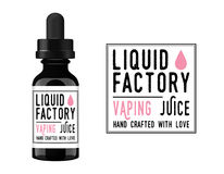 Vaping Juice Bottle Label Fotografia Stock