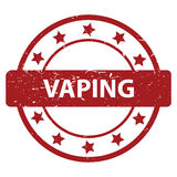 Vaping stamp. Illustration of a red vaping stamp with a white background Royalty Free Stock Photography