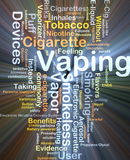 Vaping word cloud illustration Royalty Free Stock Photos