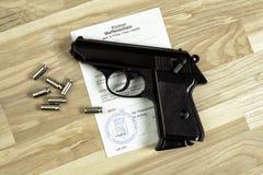 Vapnet licenserar arkivbild