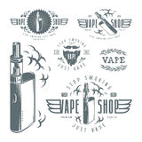 Vapor bar and vape shop labels Royalty Free Stock Photo