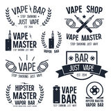 Vapor bar and vape shop logo Stock Photo