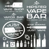 Vapor bar and vape shop logo Stock Photography