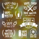 Vapor bar and vape shop logo Stock Photos