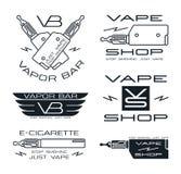 Vapor bar and vape shop logo Stock Photography