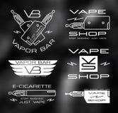 Vapor bar and vape shop logo Stock Photo