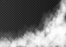 Vapor blanco en fondo transparente Foto de archivo libre de regalías