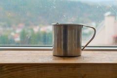 Vapor caliente del té preparado foto de archivo