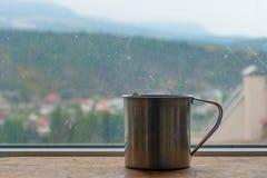 Vapor caliente del té preparado fotografía de archivo