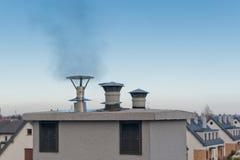 Vapor from chimney Royalty Free Stock Photo