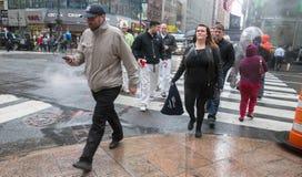 Vapor da rua subterrânea em NYC Fotos de Stock