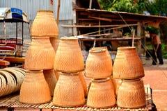 Vapor de bambú tailandés Fotos de archivo