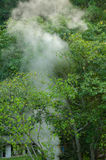 Vapor de las aguas termales, Tailandia fotos de archivo libres de regalías