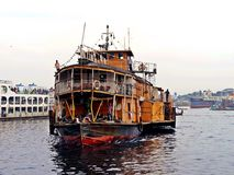 Vapor de paleta de Rocket, río de Buriganga, Bangladesh fotos de archivo