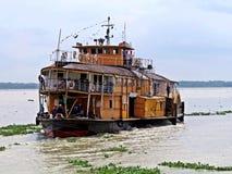 Vapor de paleta de Rocket, río de Buriganga, Bangladesh imagen de archivo