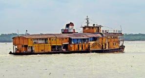 Vapor de paleta de Rocket, río de Buriganga, Bangladesh fotografía de archivo libre de regalías