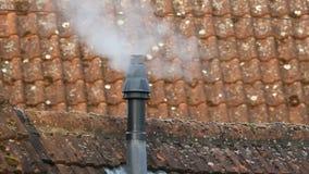 Vapor del tubo de calefacción almacen de metraje de vídeo