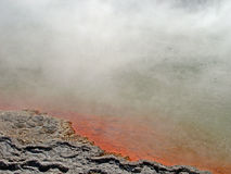 Vapor e bolhas, Waiotapu, Nova Zelândia Foto de Stock