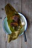 Vapor glutinoso Dumpllings do arroz Imagens de Stock Royalty Free