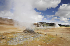 Vapor jet inside geothermal site Stock Photography