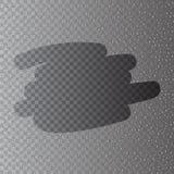 Vapor realista con las gotitas del condensado sobre el vidrio stock de ilustración