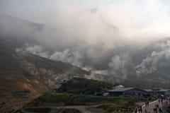 Vapor sulfuroso, Owakudani, Japão Imagem de Stock Royalty Free