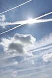 Vapor trail Stock Images