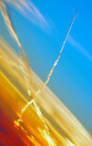 Vapor trail Royalty Free Stock Photography