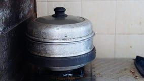 Vapor viejo del acero inoxidable fotografía de archivo