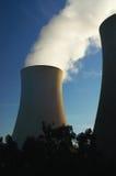 Vapore da una centrale elettrica Immagini Stock Libere da Diritti