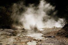 Vapore dal geyser Immagini Stock