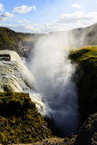 Vapore dalla cascata islandese Fotografia Stock