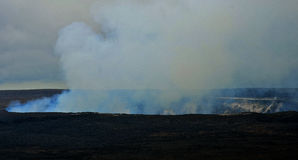 Vapore del vulcano Fotografia Stock