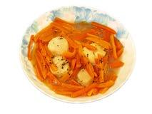 Vapore della carota & del pettine Fotografia Stock