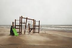 Vapore di autunno sulla costa del Mare del Nord nei Paesi Bassi fotografia stock libera da diritti