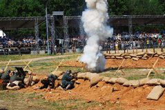 Vapore sul campo di battaglia Immagine Stock Libera da Diritti