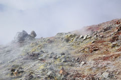 Vapore vulcanico di zolfo