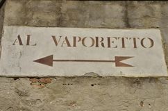 Vaporeto Sign Royalty Free Stock Image