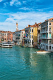 Vaporetto στο μεγάλο κανάλι, Βενετία Στοκ εικόνες με δικαίωμα ελεύθερης χρήσης
