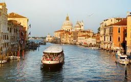 Vaporetto at  Grand Canal Stock Photography