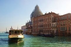 Vaporetto at Grand Canal in Venice Stock Photography