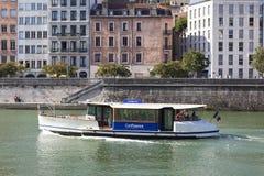 Vaporetto i Lyon Arkivbild