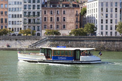 Vaporetto in Lyon Stock Photography