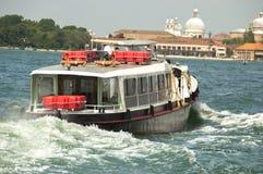 Vaporetto navigating in Venice. Lagoon Stock Photography