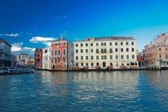 Vaporetto nel canal grande a Venezia Immagini Stock Libere da Diritti